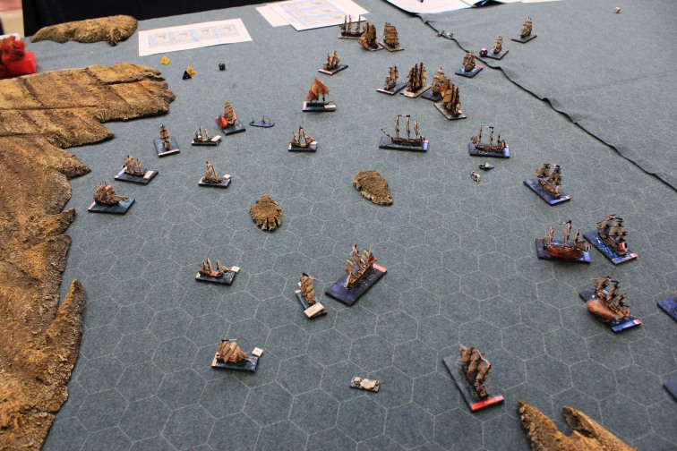 """The """"King George"""" smashes its way through the French line - the beginning of the end for the French!"""