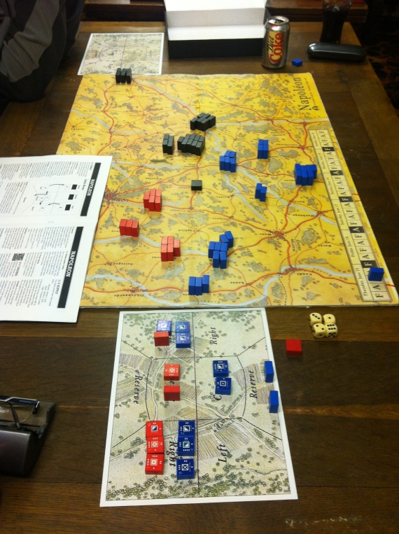 French apply pressure on the British & Allies on the road to Ghent.