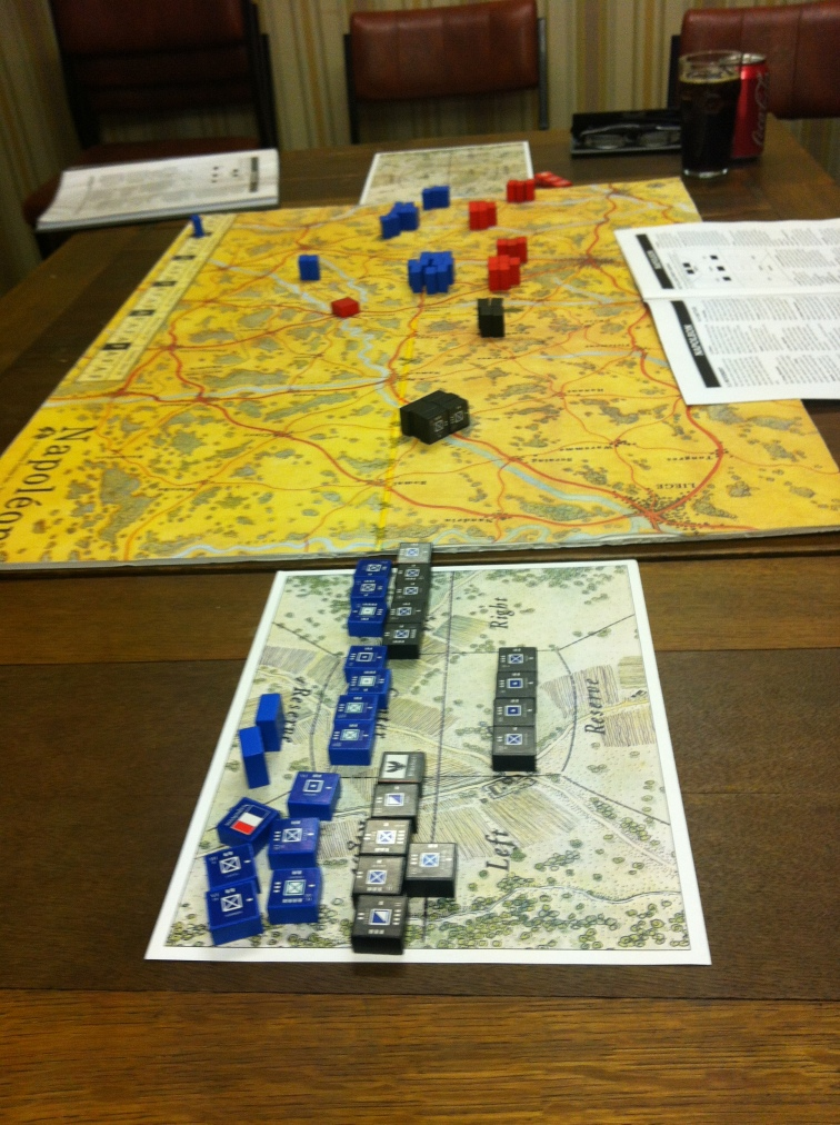 Blucher overwhelms the French forces....
