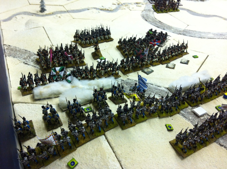 Fierce fighting on the French left flank......