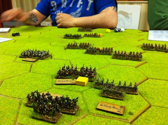 The Yorkist forces begin their retreat from the field......